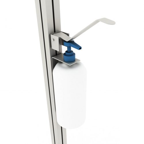 Wall-mounted stand with elbow dispenser B