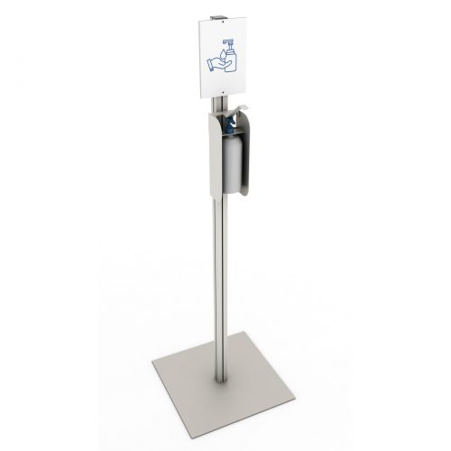 Simple stand with elbow dispenser A