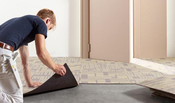 Teppich in Fliesen